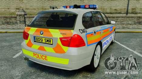 BMW 330i Touring Metropolitan Police [ELS] for GTA 4 back left view
