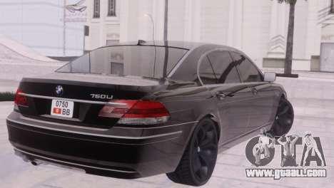 BMW 750Li E66 for GTA San Andreas side view