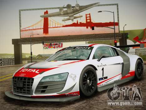 Audi R8 LMS Ultra W-Racing Team Vinyls for GTA San Andreas inner view