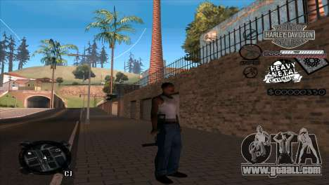C-Hud Heavy Metal for GTA San Andreas second screenshot