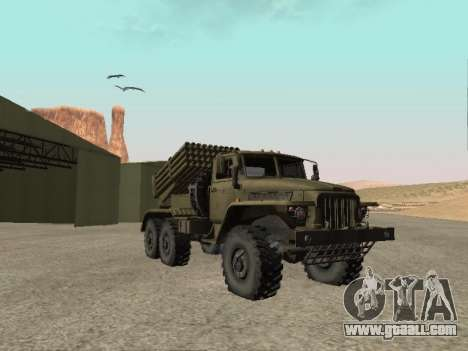 Ural 375 BM-21 for GTA San Andreas back left view