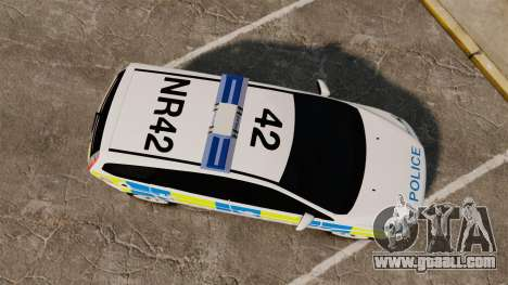 Ford Focus Estate Essex Police [ELS] for GTA 4 right view