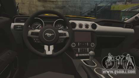 Ford Mustang GT 2015 v2.0 for GTA 4 inner view