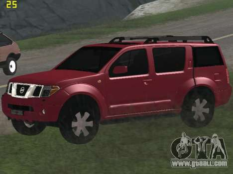Nissan Pathfinder for GTA San Andreas inner view