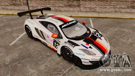 McLaren MP4-12C GT3 (Updated) for GTA 4 bottom view