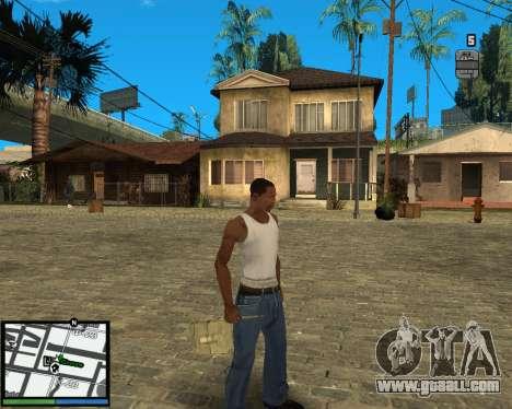GTA V hud for GTA San Andreas second screenshot