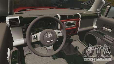 Toyota FJ Cruiser 2012 for GTA 4 back view