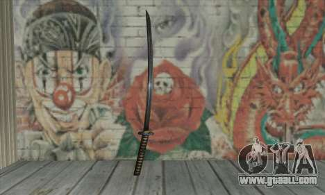 Samurai katana for GTA San Andreas second screenshot
