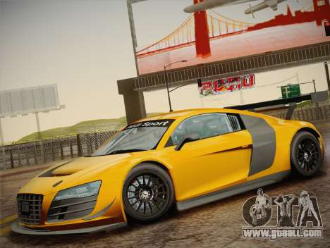 Audi R8 LMS Ultra W-Racing Team Vinyls for GTA San Andreas upper view