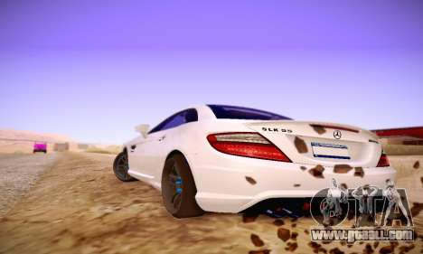 Mercedes Benz SLK55 AMG 2011 for GTA San Andreas right view