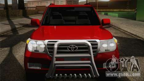 Toyota Land Cruiser 200 for GTA San Andreas upper view