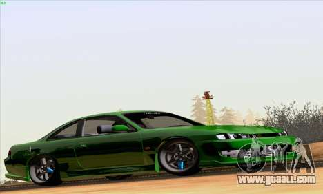 Nissan Silvia S14 Stance for GTA San Andreas back left view