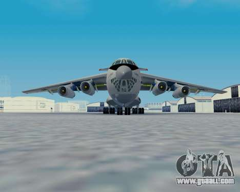 Il-76TD Aviacon zitotrans for GTA San Andreas back left view