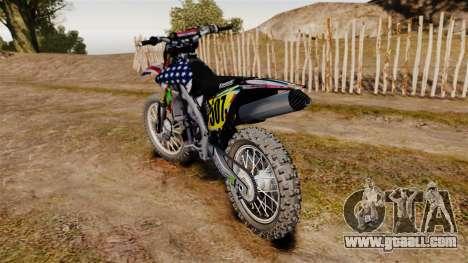 Kawasaki KX250F USA for GTA 4 back left view