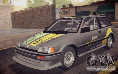 Honda Civic S 1986 IVF for GTA San Andreas engine