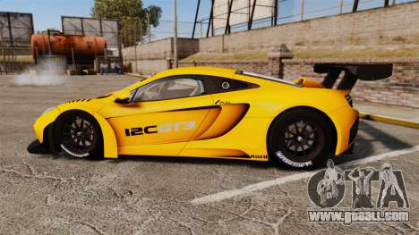McLaren MP4-12C GT3 (Updated) for GTA 4 left view