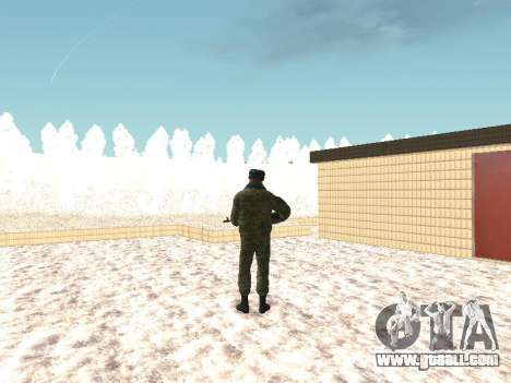 Military in winter uniform for GTA San Andreas third screenshot