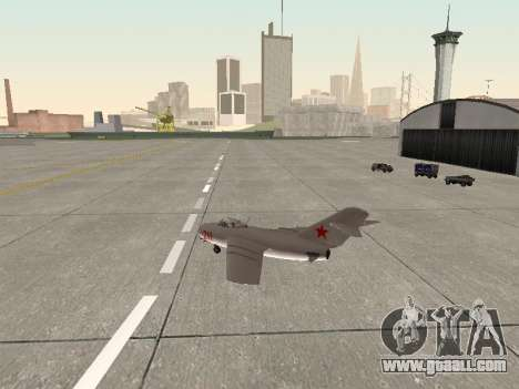 MiG 15 Bis for GTA San Andreas right view
