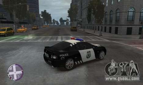 Holden Monaro CV8-R Police for GTA 4 back left view