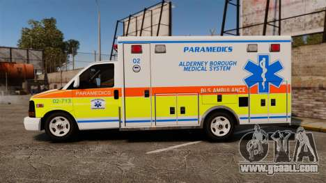 GMC Savana 2005 Ambulance [ELS] for GTA 4 left view
