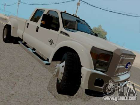Ford F450 Super Duty 2013 for GTA San Andreas left view