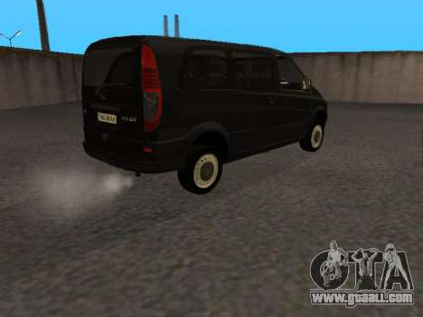 Mercedes-Benz Vito for GTA San Andreas back left view