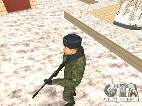 Military in winter uniform for GTA San Andreas second screenshot