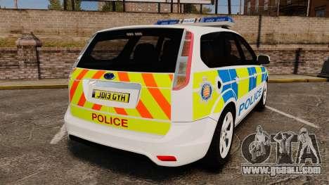 Ford Focus Estate Essex Police [ELS] for GTA 4 back left view