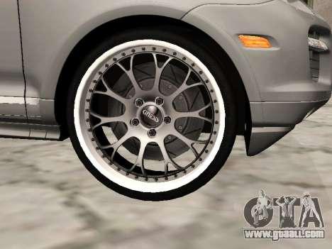 Porsche Cayenne Turbo S for GTA San Andreas right view