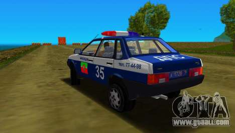 VAZ 21099 Militia for GTA Vice City upper view