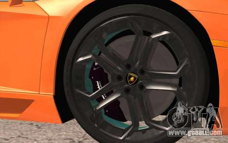 Lamborghini Aventador LP 700-4 for GTA San Andreas back left view