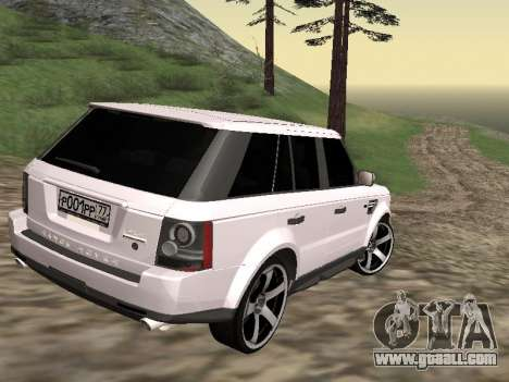Range Rover Sport 2011 for GTA San Andreas back left view