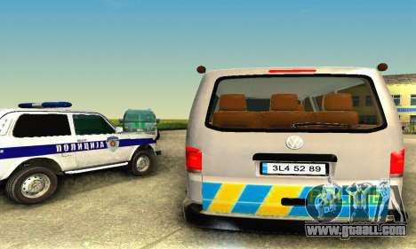 Volkswagen Transporter Policie for GTA San Andreas back left view