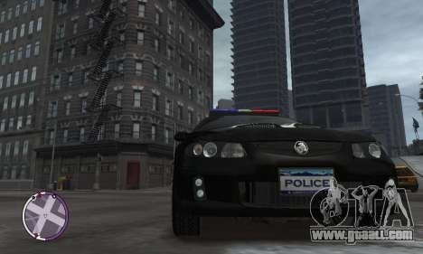 Holden Monaro CV8-R Police for GTA 4 back view