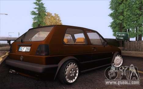Volkswagen Golf Mk2 for GTA San Andreas left view