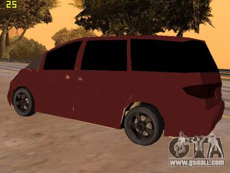 Toyota Estima 2wd for GTA San Andreas right view