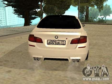 BMW M5 F10 V2.0 for GTA San Andreas back left view