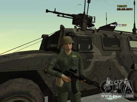 The Modern RUSSIAN Army for GTA San Andreas seventh screenshot