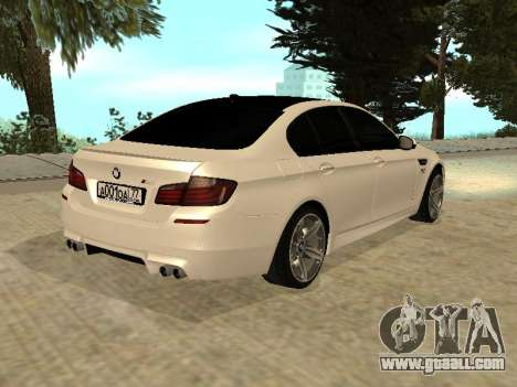 BMW M5 F10 V2.0 for GTA San Andreas left view