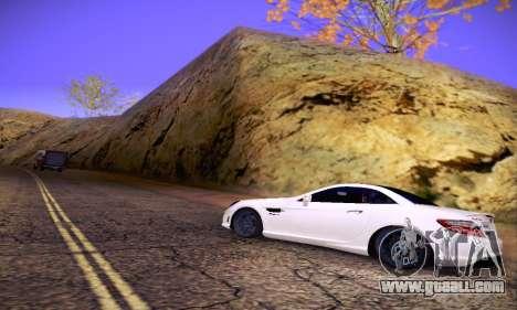 Mercedes Benz SLK55 AMG 2011 for GTA San Andreas interior