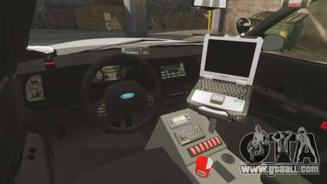 Ford Crown Victoria Traffic Enforcement [ELS] for GTA 4 inner view