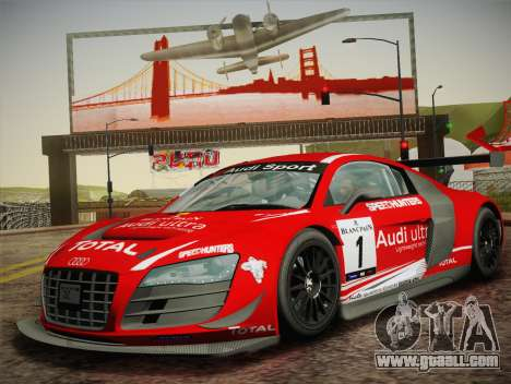 Audi R8 LMS Ultra W-Racing Team Vinyls for GTA San Andreas back view