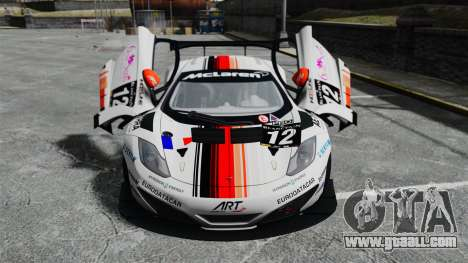 McLaren MP4-12C GT3 for GTA 4 upper view