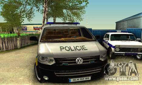 Volkswagen Transporter Policie for GTA San Andreas left view