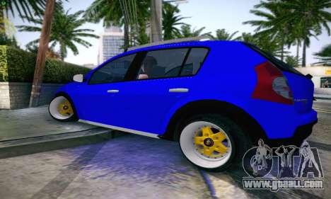 Dacia Sandero for GTA San Andreas left view