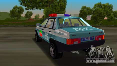 VAZ 21099 Militia for GTA Vice City left view
