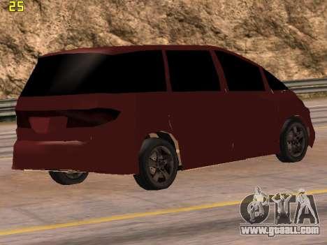 Toyota Estima 2wd for GTA San Andreas left view