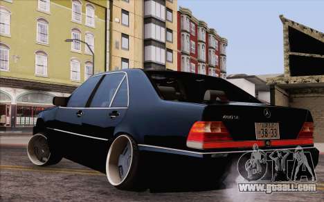 Mercedes-Benz S500 w140 for GTA San Andreas left view