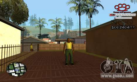 C-HUD Gangster by NickQuest for GTA San Andreas forth screenshot