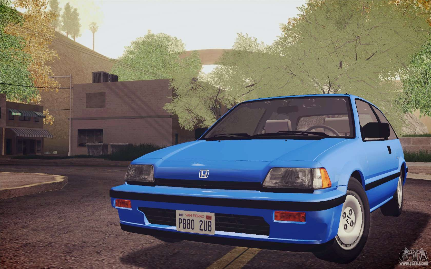 Related image with honda civic s 1986 ivf for gta san andreas back
